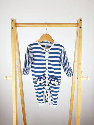 Bluezoo striped monkey all-in-one 3-6 months