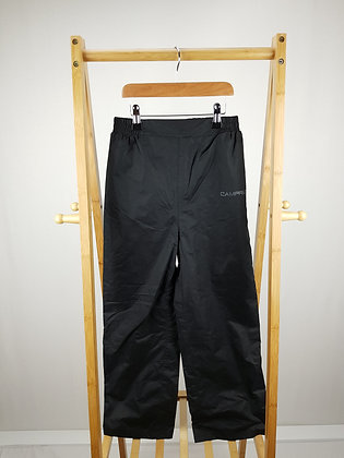 Campri black outdoor trousers 9-10 years