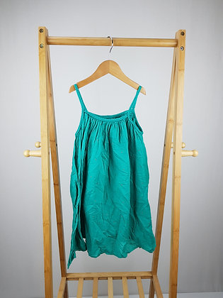 M&S green gold studded dress 7-8 years