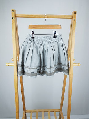 Next embroidered grey skirt 4-5 years
