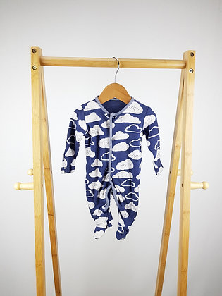 George cloud print sleepsuit first size