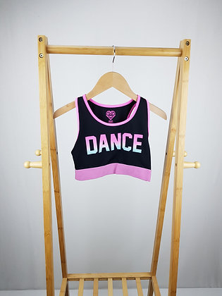 F&F dance active wear crop top 10-11 years