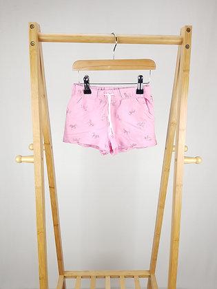 H&M pink unicorn shorts 5-6 years