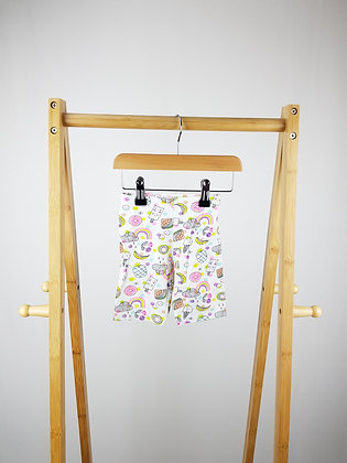 F&F patterned shorts 12-18 months