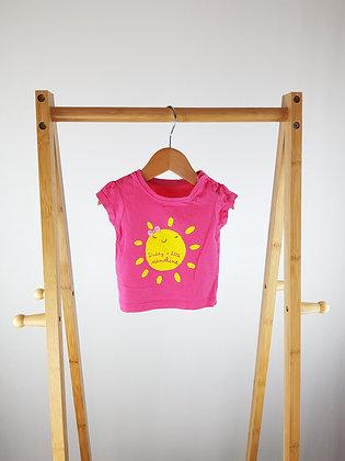 Primark daddy's little sunshine t-shirt 0-3 months