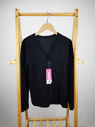 George black fine knitted cardigan 12-13 years