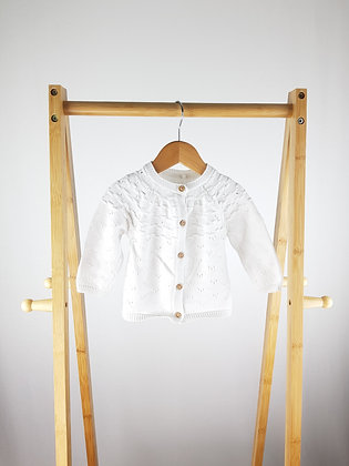 TU white knitted cardigan 6-9 months