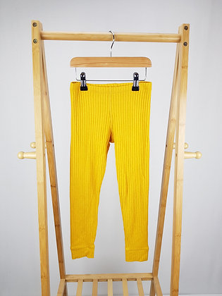 F&F mustard ribbed leggings 6-7 years