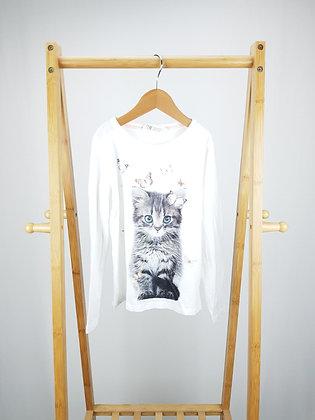 H&M cat long sleeve top 6-8 years