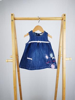 Bambini bunny denim dress 0-3 months