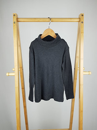 H&M grey roll neck long sleeve top 4-6 years