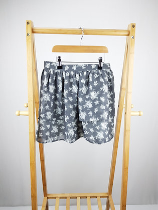 F&F grey floral layered skirt 10-11 years