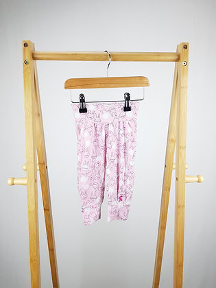Joules pink bunny joggers 3-6 months