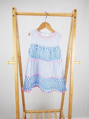 George blue patterned dress 5-6 years playwear