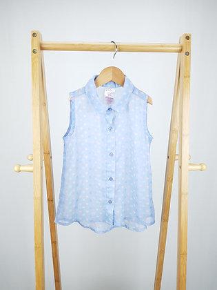 Evie angel sheer heart print blouse 5-6 years
