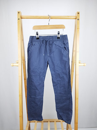 Denim Co grey slim trousers 8-9 years