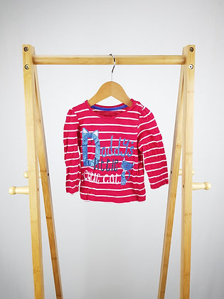Mothercare striped long sleeve top 3-6 months