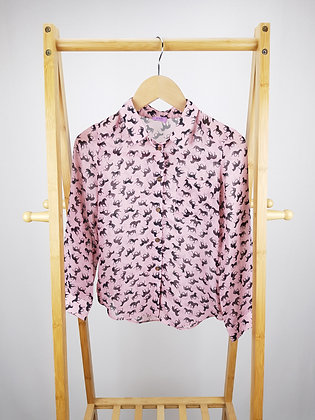 F&F pink horse print blouse 8-9 years