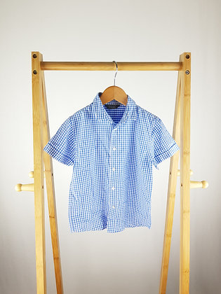 Primark blue checked shirt 3-4 years