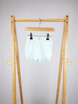 George pale green shorts 12-18 months