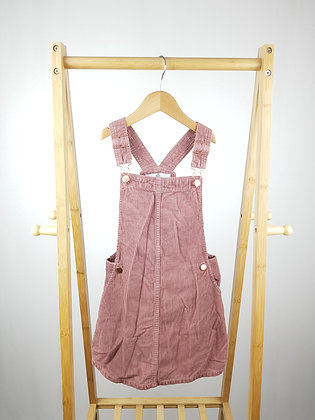 M&S dusky pink cord pinafore dress 7-8 years