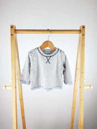 F&F grey long sleeve top 6-9 months