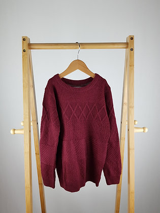 Matalan burgundy knitted jumper 8 years
