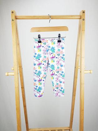Matalan floral leggings 18-23 months