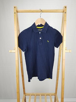 H&M navy polo shirt 8-10 years