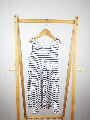 H&M striped hearts dress 6-8 years
