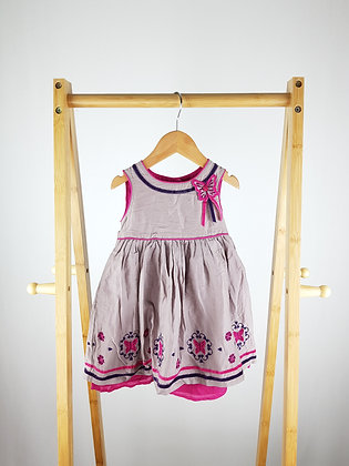 Monsoon butterfly embroidery dress 6-12 months
