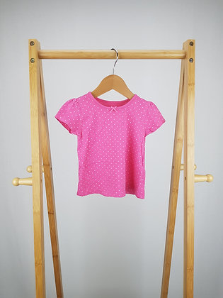 George pink spotted t-shirt 6-9 months
