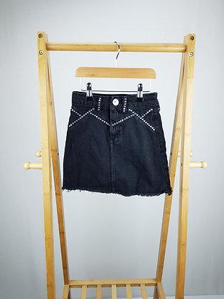 River Island studded denim skirt 7 years