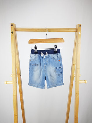 Nutmeg soft denim shorts 12-18 months
