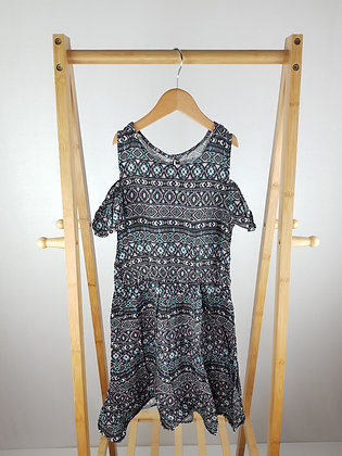 Primark patterned dress 9-10 years