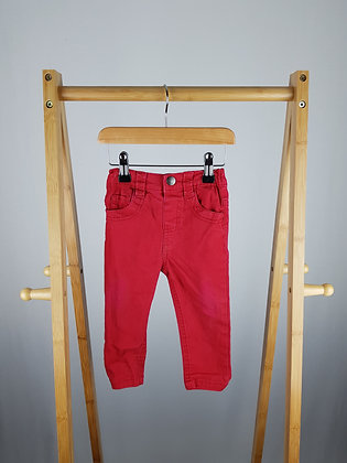 Early days red jeans 12-18 months