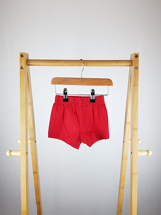 Teeny Weeny red shorts 3-6 months