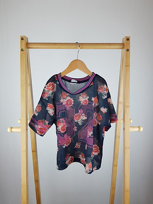 George floral net t-shirt 10-11 years