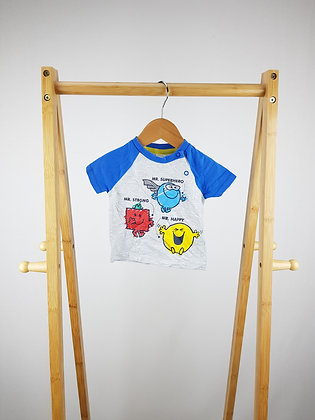 Mr Men & Little miss t-shirt 0-3 months
