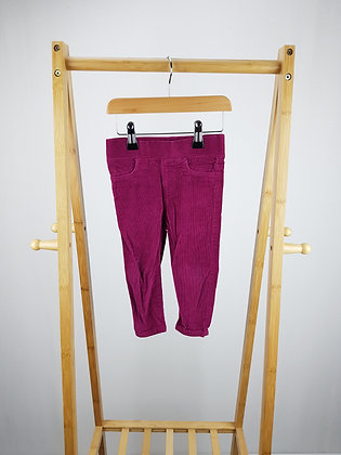 F&F corduroy trousers 12-18 months