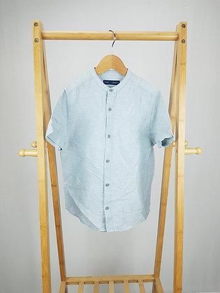 Next blue linen mix shirt 8 years