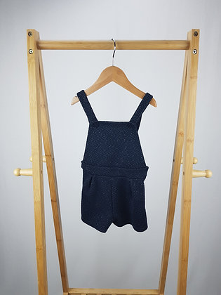 F&F sparkly short dungarees 18-24 months
