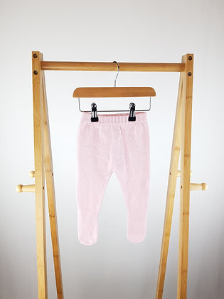 Matalan pink knitted bottoms with closed feet 0-3 months