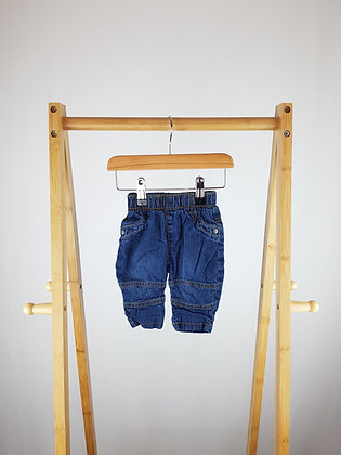 George lined jeans 0-3 months