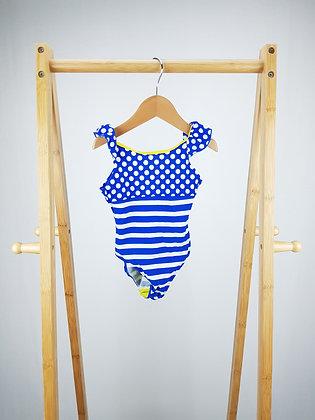 F&F stripes & spots blue swimsuit 18-24 months