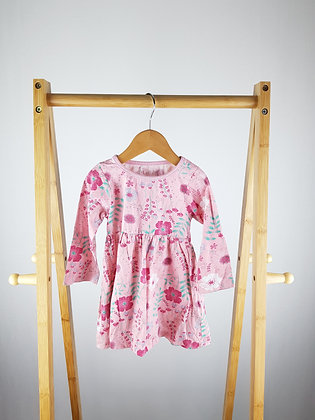 Peacocks floral long sleeve dress 12-18 months