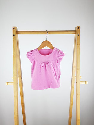 Mothercare pink t-shirt 6-9 months