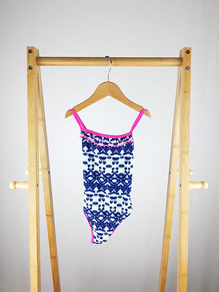 F&F abstract blue swimsuit 5-6 years