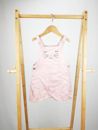 F&F cat pink pinafore dress 18-24 months