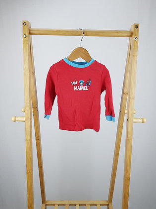 George Marvel long sleeve pyjama top 9-12 months